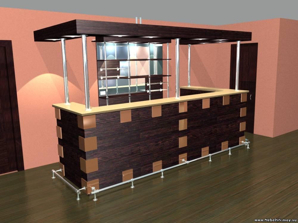 Дизайн проект барной стойки эскизы